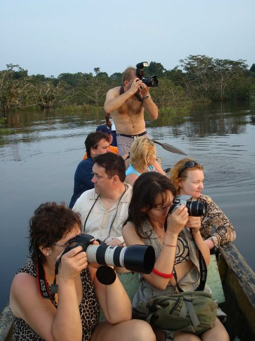 Visiting the Amazon in Ecuador: Bird photography at Cuyabeno Lake, when visiting the Amazon in Ecuador.