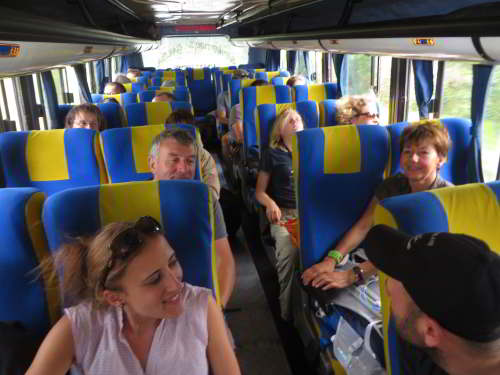 AMAZON RIVER CRUISE, ECUADOR [ORIENTE]: Private bus to Cuyabeno.
