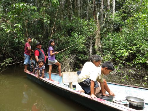 Visiting the Amazon in Ecuador: Piranha fishing when visiting the Amazon in Ecuador.