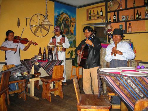 Andean Musico group in Otovalo