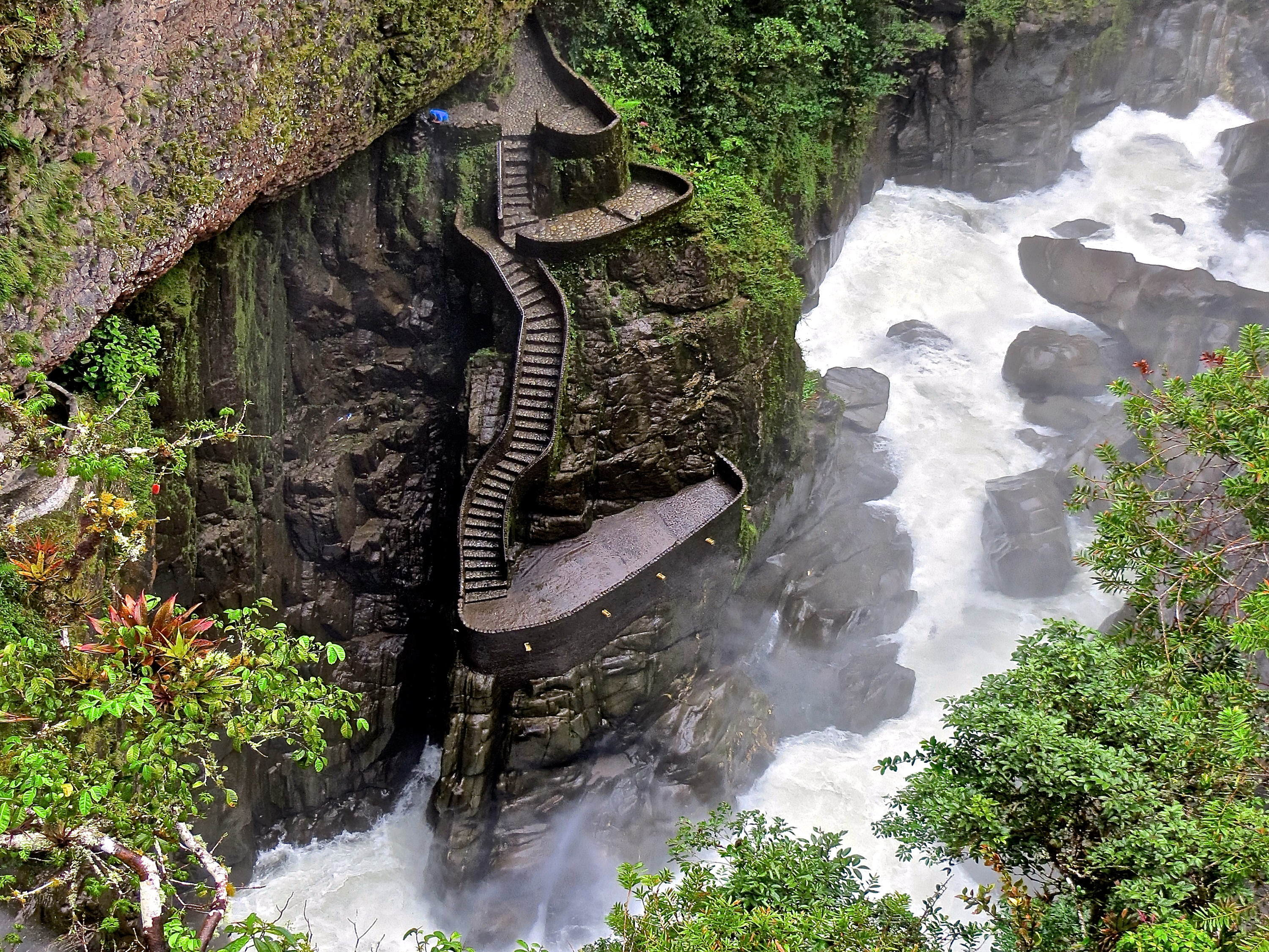 coolest things to do in baos ecuador stairway de la cascada pailn del