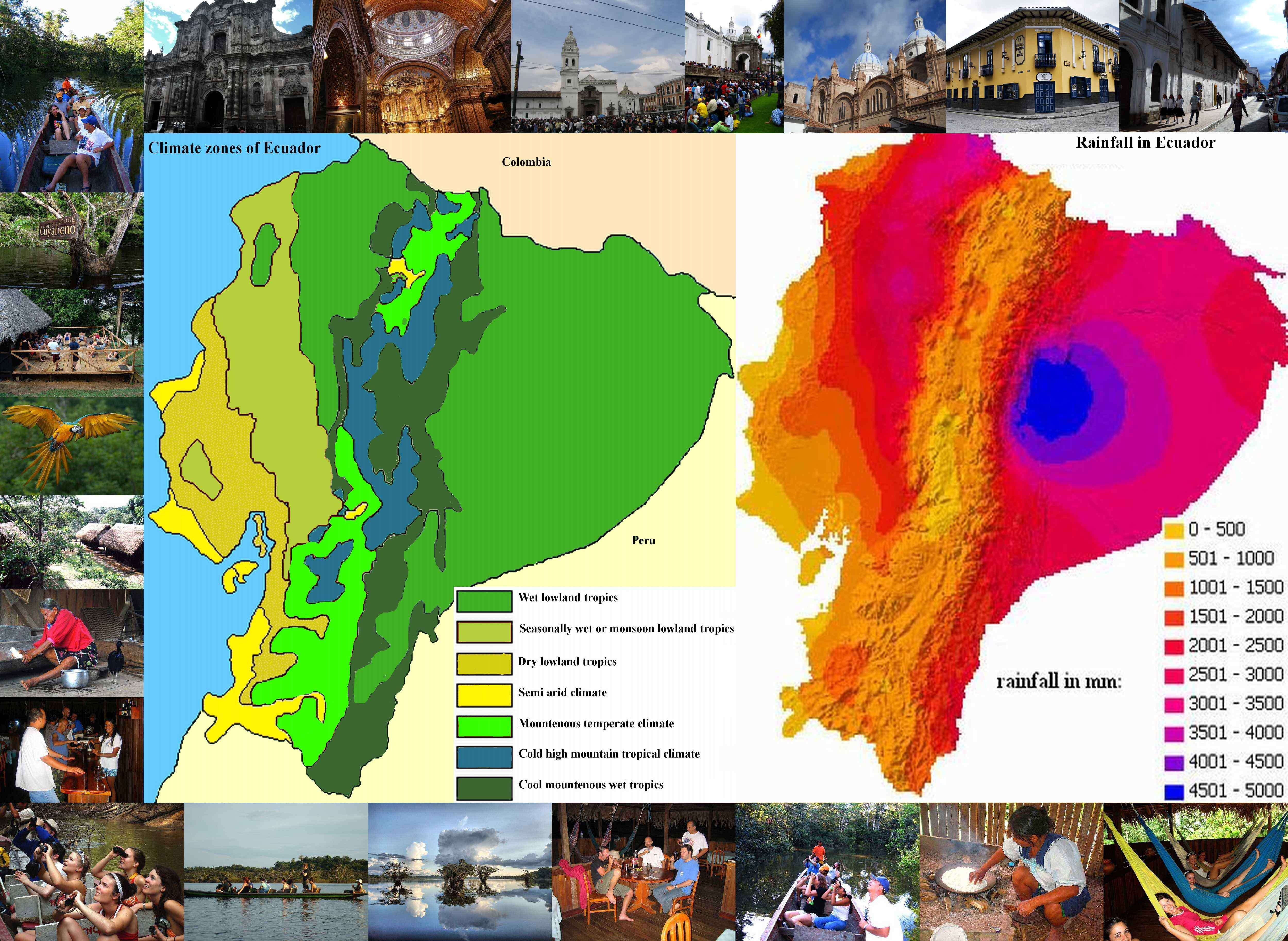 Climate of ecuador 7 climate zones climate and weather of the amazon lowlands gumiabroncs Choice Image