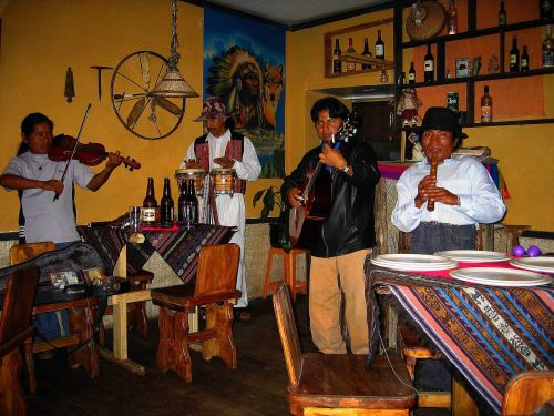 Otavalo Indian Market: Traditional Andean Indian band