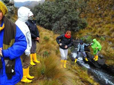 On an Andes Treks in Ecuador: a hike through Cajas National Park.