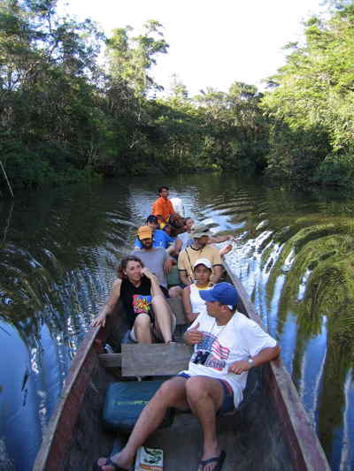 Cuyabeno Faunistic Reserve: evening excursion on the river.