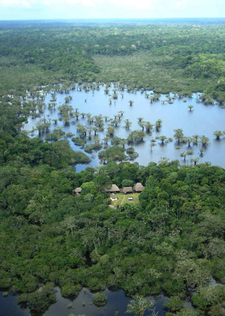 10 CUYABENO WILDLIFE RESERVE FACTS: Cuyabeno Lodge, Ecuador from the air.