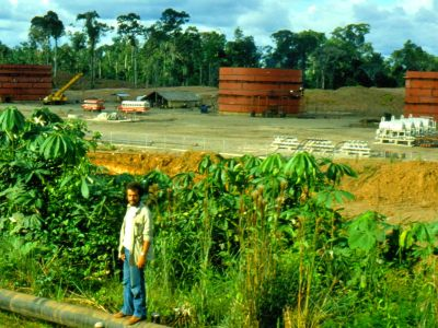 AMAZON RIVER HISTORY & INTERESTING FACTS [ECUADOR]: The new oil exploitation service town Tarapoa in 1983.