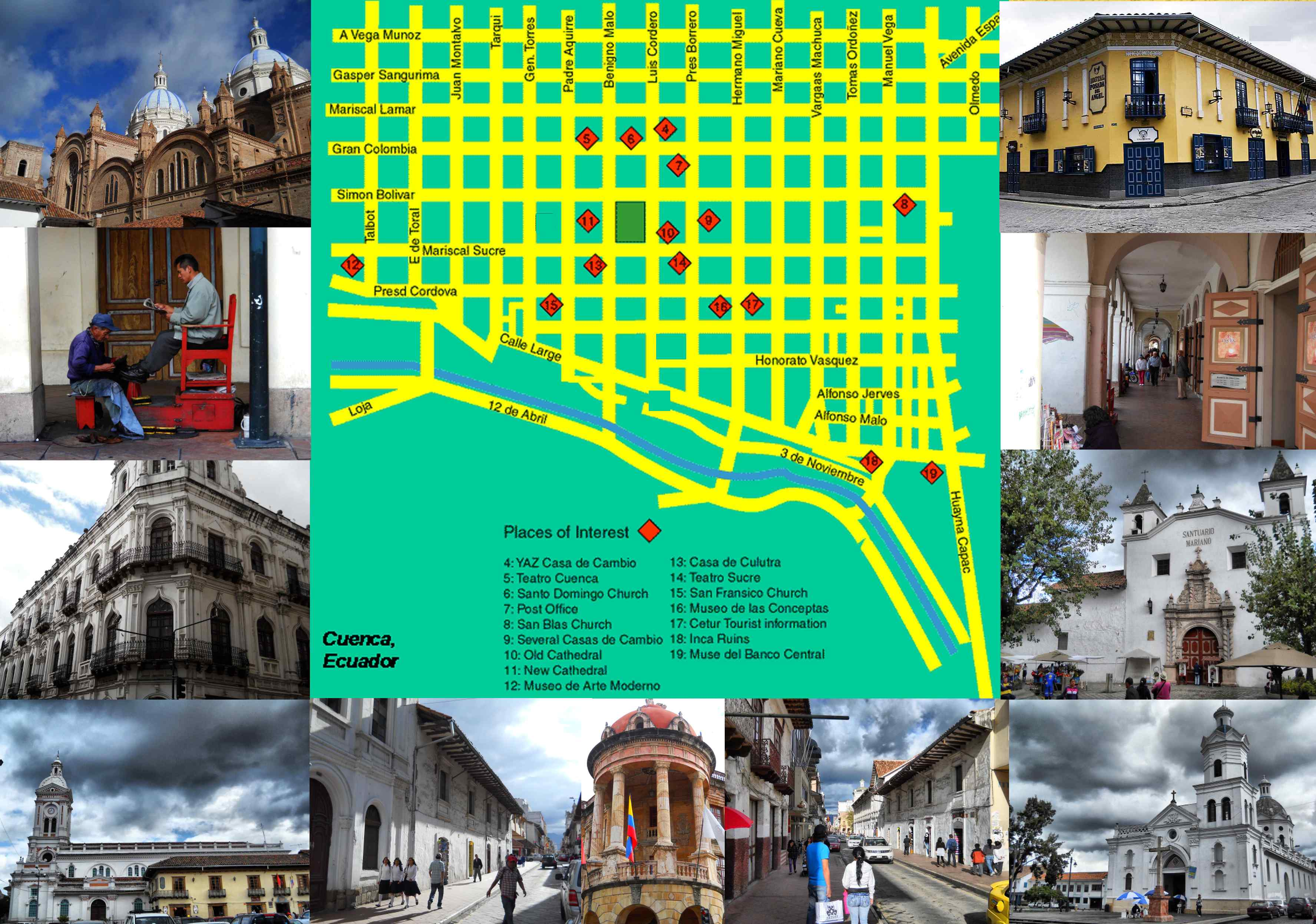TOP 20 ATTRACTIONS OLD TOWN QUITO – Ecuador Tourist Attractions Map