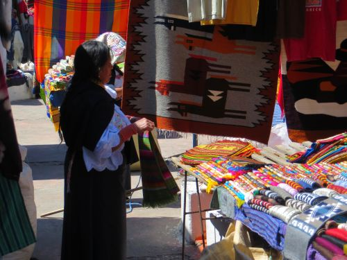 Otavalo Indian Market: Rugs and wall tapisery, Otavalo, Ecuador