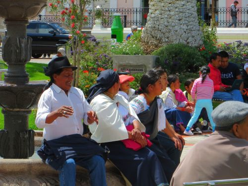 Otavalo Indian Market: Traditional Indians of the Andes, Ecuador