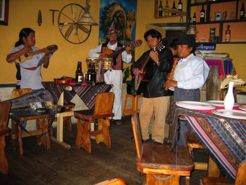 Otavalo Indian Market: Otavalo Night Life with Indian Music